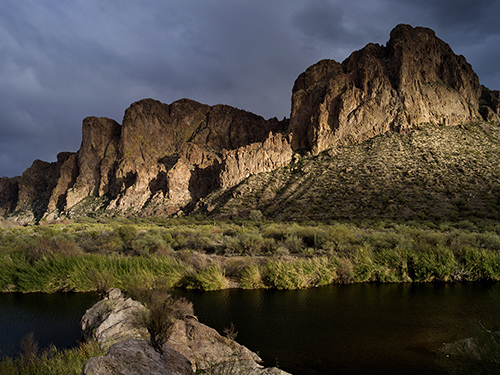 Approaching Storm at Salt River Canyon
