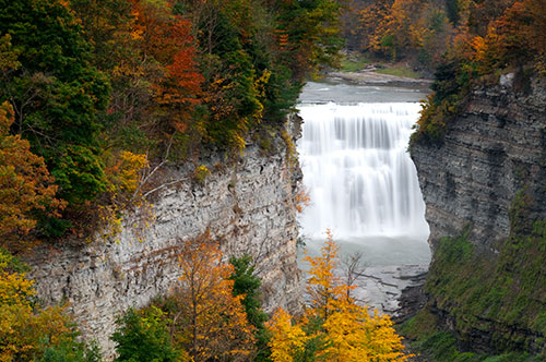 Middle Falls Inspiration Point Letchworth State Park
