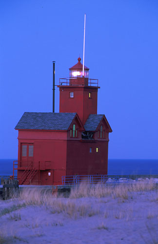 MS-6 Holland 'Big Red' Lighthouse-Holland, Michigan