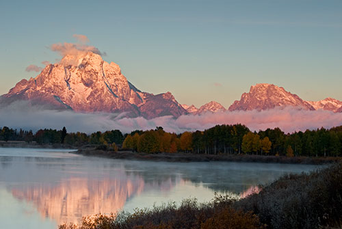 GRT4  Mt. Moran SunriseGrand Teton National Park